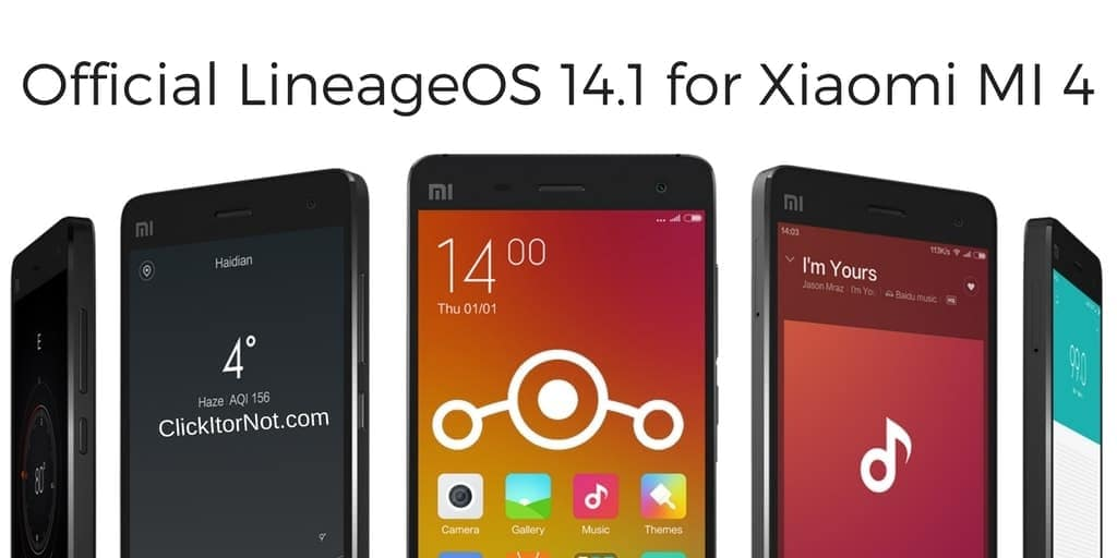Official LineageOS 14.1 on Xiaomi MI 4