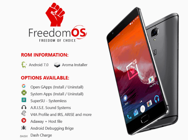 Freedom OS for OnePlus 3