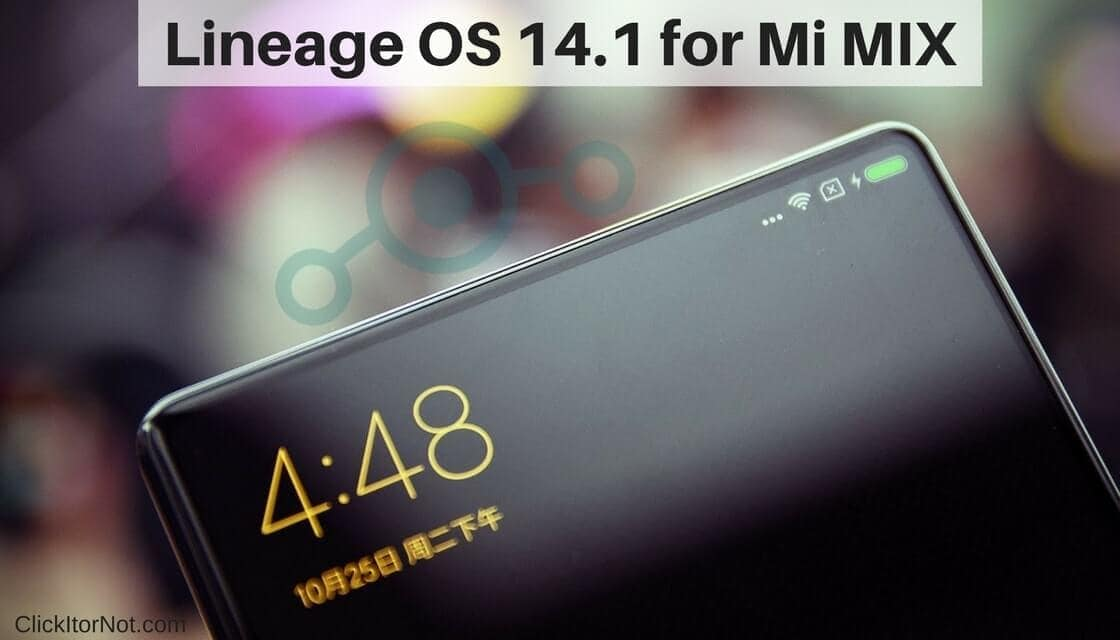 Lineage OS 14.1 on Mi MIX
