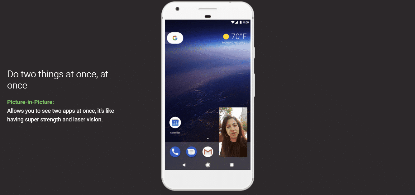 android Oreo Picture-in-Picture