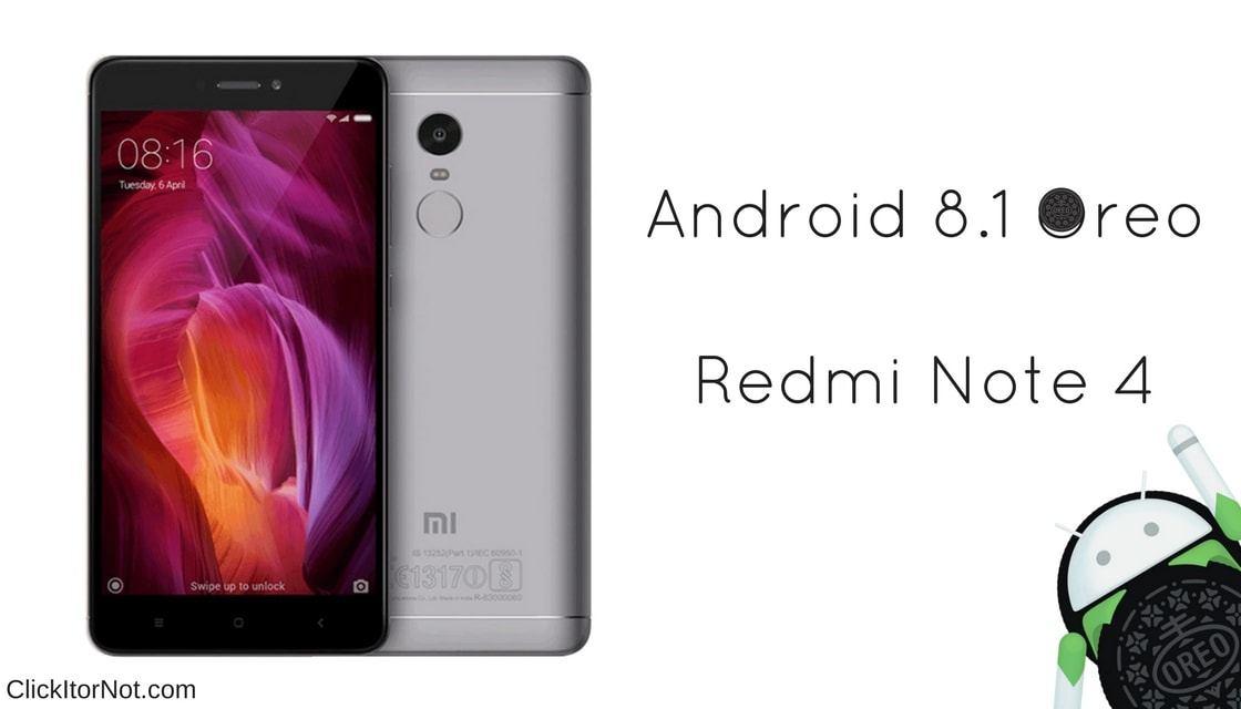 Android 8.1 Oreo on Xiaomi Redmi Note 4