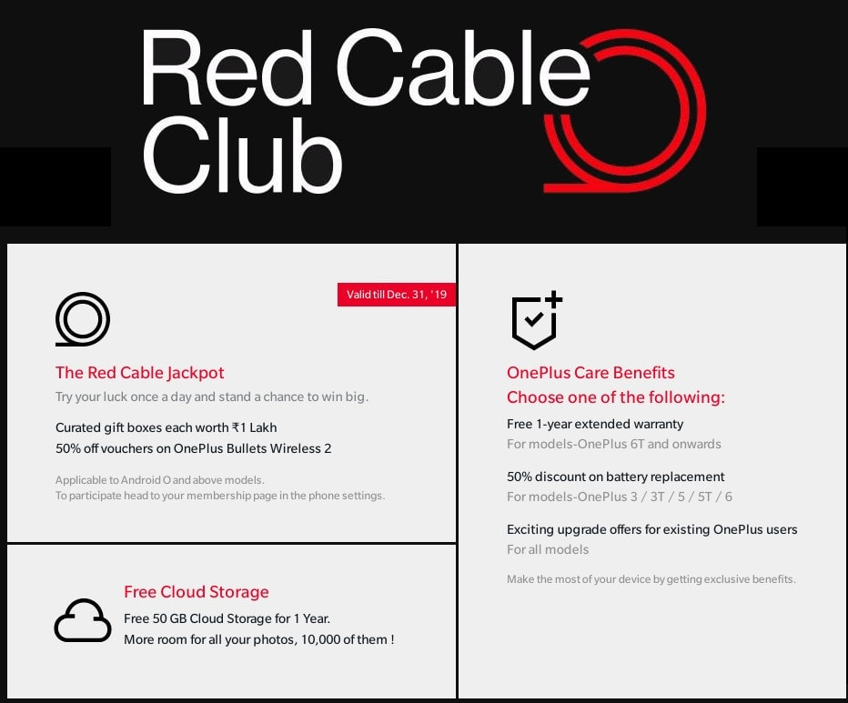 Benefits of OnePlus's Red Cable Club