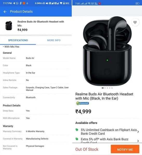 Realme buds air price