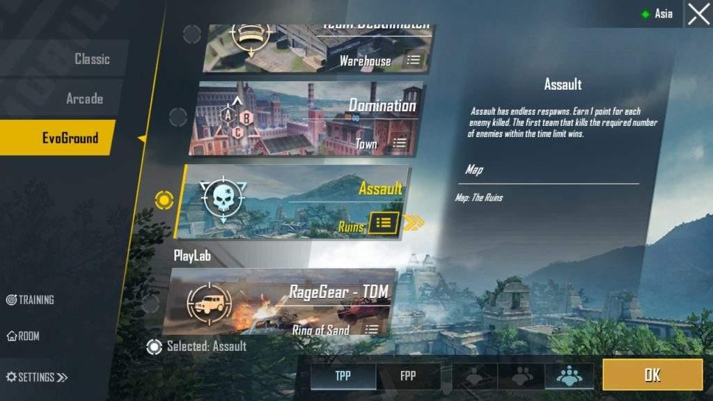 PUBG Mobile Season 11 Assault Mode in Ruins Map