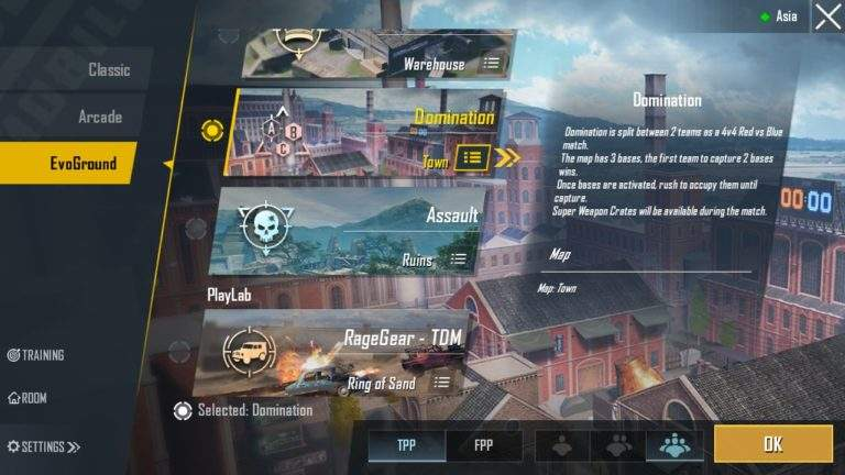 PUBG Mobile Season 11 Domination Mode in Town Map