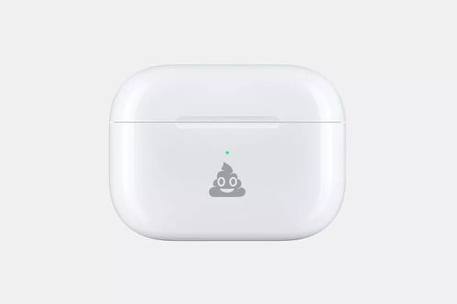 Apple Airpods case to have a poop emoji