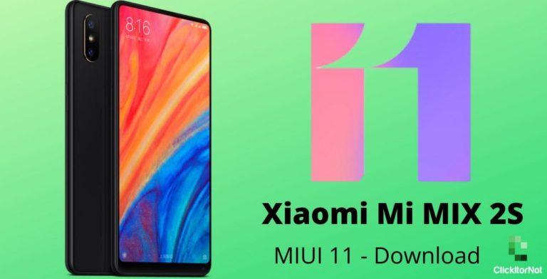 Mi MIX 2s miui 11 download
