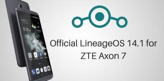 LineageOS 14.1 for ZTE Axon 7